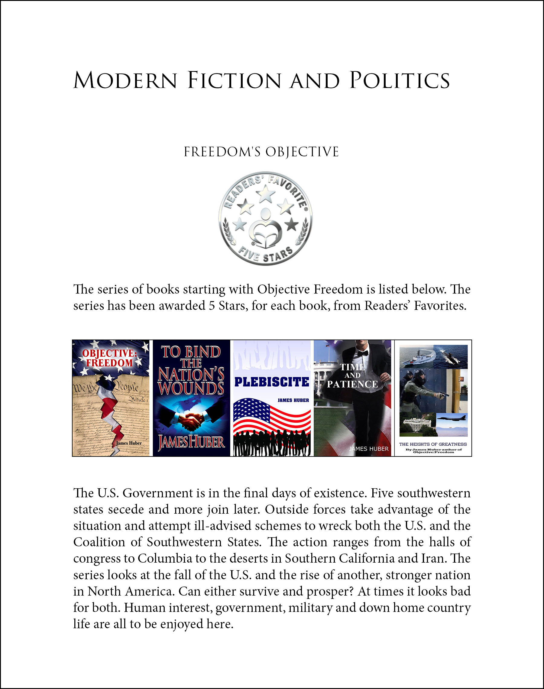 Modern Fiction and Politics